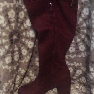 NWT Purple/Maroon Thigh High Boots Torrid